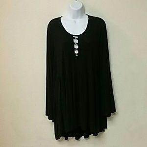 {Torrid} Black Long Sleeved High-Low Dress